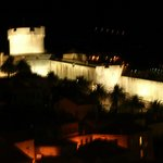 Fortress at night from balcony