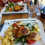 Massive scallops and Orkney beef lasagne
