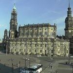 Great view of the Hofkirche from the Semperoper