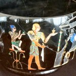 Silver cup inlaid with semi-precious stones from Pompeii