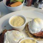 Room service...eggs benedict!