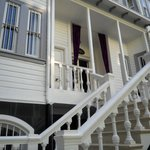 Escada externa da casa