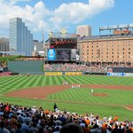 Third base line at Oriole Park