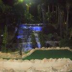 waterfall at nlght