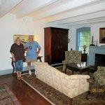 Mr. Voohries showing us their formal living room