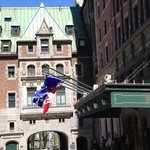 cute entrance to the Chateau Frontenac