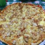 Pizza de langosta! Buena y exitosa idea!