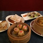 Selection of Dim Sum. Sorry some dishes are half eaten... Was too tempting to wait for all of th