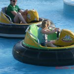 Mom & Daughter battleing it out on the Bumper Boats.