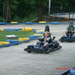 Dad & Daughter Kart racing.