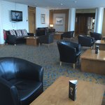 Lounge area where delegates enjoyed coffee and biscuits