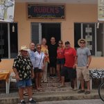 Our group photo with Ruben - wonderful restaurant!