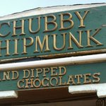 Chubby Chipmunk Hand Dipped Chocolates sign