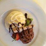 Dessert from the hotel restaurant