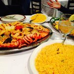 Yellow Rice, Seafood Platter