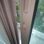 Balcony door unable to lock