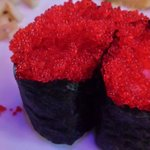 Flying fish roe (tobiko) nigiri