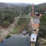 The old Pump House view from top of the Mundaring Weir