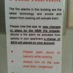 Sign in kitchen....beware!