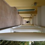 Colonnaded open air hallway