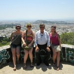 With George overlooking Athens