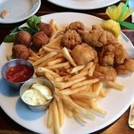 2-3 Combo of shrimp and scallops.