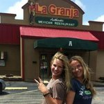 My daughter & sis-in-law in front of the restaurant