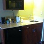 New micro/fridge/sink area