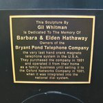Phone plaque.