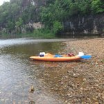 12 mile trip on the current with eminence canoe rental