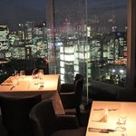 Spectacular views from the top floor restaurant