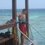 Watching the Snuba boat setup
