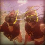 Snorkeling. We had a fish take our pic!
