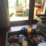 Breakfast was served in the rooms every morning, really lovely lay out