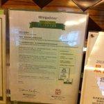 Award Certificate for this Hotel from TripAdvisor