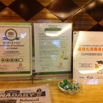 various certificates of awards to this hotel