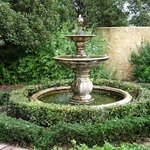 fountain at garden retreat accommodation