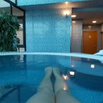 inside the hot tub