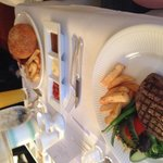 Recommend the steak and burger for room service!!