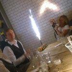 Staff generously helped us Celebrate a friend's birthday...!