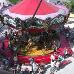 Small carousel from above.