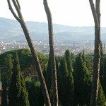 ベランダからのフィレンチェ市内の眺め