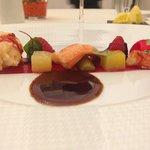 un des plats (homard)