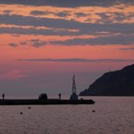 Sunset at the Kamares Port