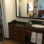 Seperate sink area & big closet