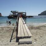 The footbridge across to the island.