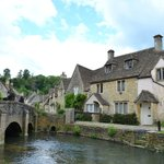 Castle Combe by the river