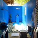 Das blaue Badewunder ( Außendusche )