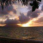 Abendstimmung Blick von der Beachvilla