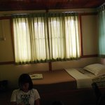 One half of the double bedroom, second night